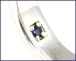 【刻印・送料無料】PureBlue/ピュアブルー * ウェーブペアリング * ブルーサファイアに想いを込めて silver925(7〜21号)