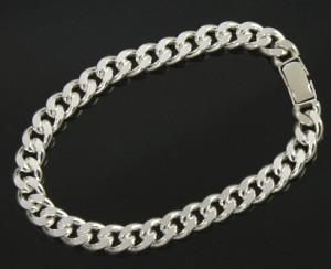 国産シルバー*silver925*キヘイブレスレット(幅8.4mm/長さ18cm/30g)