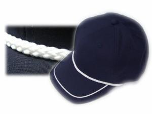 ウェザーロープ付きゴルフキャップ☆ネイビー