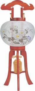 【送料無料!ポイント2%】業界最小の省スペース!超小型行灯絹張り提灯・2色