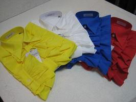 ドレスシャツ フリル 日本製フリルシャツ