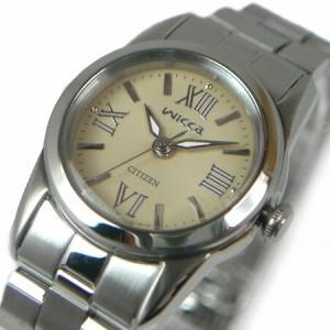 【CITIZEN / シチズン】ウィッカ / WICCA レディース腕時計 クリーム文字盤 メタルベルト【国内正規品】NA15-1333H