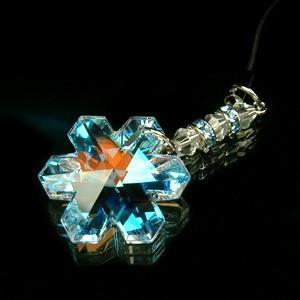 スワロフスキークリスタルストラップ 雪の結晶