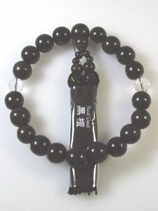 新品 高級品質片手数珠 黒檀16mm念珠 即決