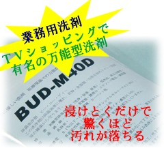 BUD300g業務用 医療現場・清掃プロも認めた万能洗剤