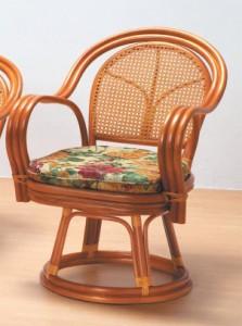 【送料無料!ポイント2%】くつろぎ方いろいろ♪丈夫なカゴメ織り!ラタン回転椅子 3タイプ