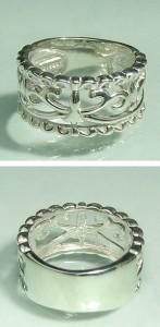 アラベスクシルバーリング7〜11号 /シルバー925/シルバーアクセ/シルバーアクセサリー/指輪