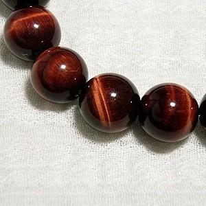 12mm 16.5〜19cm 赤トラ目石(レッドタイガーアイ)ブレスレット/天然石/メンズ/パワーストーン/ギフト
