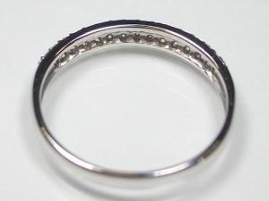 0.2ctパヴェダイヤモンドのK18WGリング:送料無料