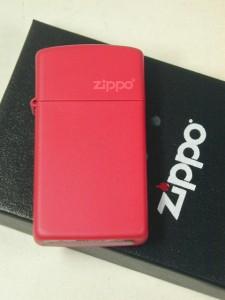 Zippoレッドマット(赤無地)ジッポーロゴ#1633