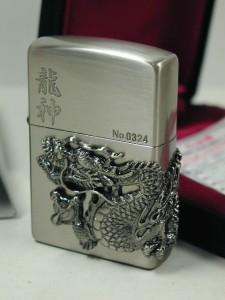 Zippo限定 ドラゴン(龍神)竜神メタル(3面柄)銀