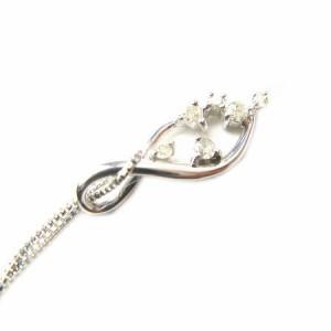 天然ダイヤモンド計0.08ct6石デザインペンダントK10WG【ケース&保証書付】 送料無料