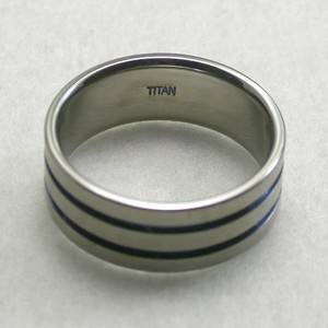 31%OFF! 平打ちブルーライン 純チタンリング 7〜21号 SAVER ONE(セイバーワン) /メンズリング 指輪 チタニウム 金属アレルギーフリー