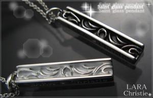 ペアネックレス シルバー セット シンプル人気ブランド LARA Christie セイントグラスペアペンダントb3036-p/32,616円