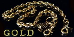 ★ゴールド ウォレットチェーン お兄系 メンエグ ワイルド 財布 チェーン 落下防止 キーチェーン 鍵 【w56】