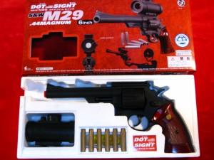 【遠州屋】 S&W-M29 .44マグナム 6in ドットサイト付 (10歳以上) クラウンモデル (市/R)★
