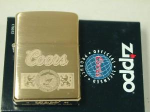 ジッポーZippo Coors クアーズ企業ビール金色
