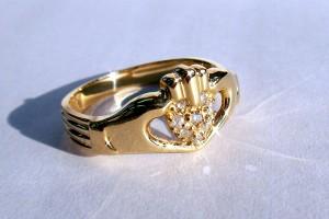 【送料無料】キムタクCM着用!アイルランド伝説の指輪 クラダリング