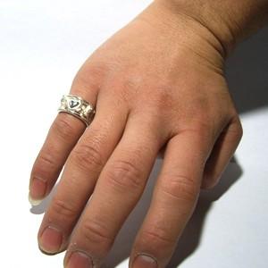 送料無料 愛を届ける天使シルバーリング フリーサイズ(9〜17号) /レディース 指輪 シルバーアクセサリー シルバー925 エンジェル ハート