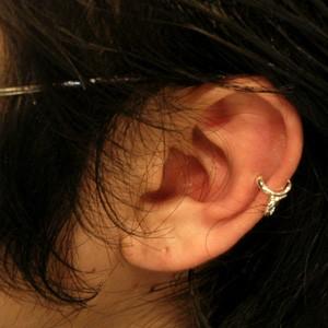 クリーパーシルバーイヤーカフ (1P) 【メンズ ピアス/Men's Pierce EarRing/男性用 耳飾り/メンスピアス 】