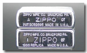 ZIPPO/世界初!1935レプリカジッポーラインなし