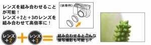 カメラ用クローズアップレンズ+3,径:62mm