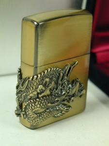 Zippo限定 ドラゴン(竜神)龍神メタル(3面柄)真鍮