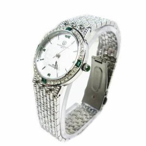 ヴァレンチノロレンタ天然エメラルド使用ラウンド腕時計VR113EM鑑別書付き 送料無料