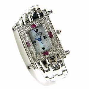 ヴァレンチノ ロレンタ 天然ルビー使用 小さめスクエアー腕時計 VR112RL 鑑別書付き 送料無料 クリスマス ギフト