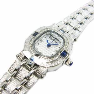 ヴァレンチノロレンタ天然サファイア使用CZダブルライン腕時計VR110SL鑑別書付き 送料無料 誕生日プレゼント ギフト