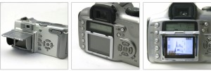 カメラ用品*液晶保護パネル付き*折畳み液晶フード