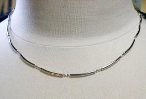 プラチナ850パイプデザインネックレス