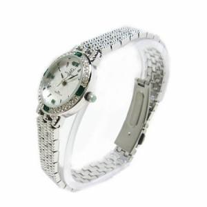ヴァレンチノ ロレンタ 天然エメラルド使用 ラウンド腕時計 VR113EL 鑑別書付き 送料無料 誕生日プレゼント ギフト