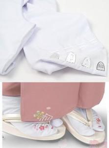振袖成人式&卒業式袴・着物に 桜刺繍足袋(22.5〜24.5)