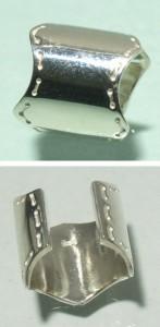 縫い目模様 シルバーイヤーカフ (1P/片耳用)イヤーカフ/イヤーカフス/シルバー925/メンズ/シンプル