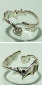 エンジェル&デビルシルバーリング フリーサイズ(7〜13号) /シルバーアクセ/シルバーアクセサリー/指輪