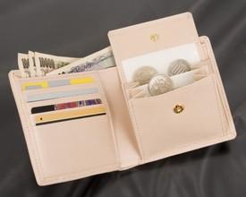 【送料無料】ワニ革パッチワーク二つ折財布