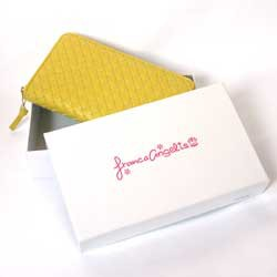 【在庫限り特価】【送料無料!!】フランカアンジェリス メッシュ ラウンドファスナー長財布♪FA-701