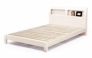 《お得なマットレス付き!》【シングルサイズ】タモ突板使用!宮付きシングルベッド+マットレスセットスノコベットホワイト