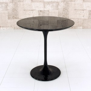 【送料無料!ポイント2%】1本脚のスリムなスタイル!ラウンドサイドテーブル 2色