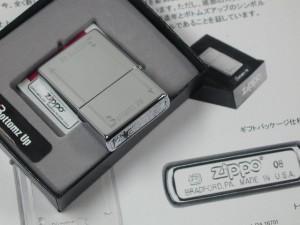 ジッポーZippoBottomzUpボトムアップ天板刻印トップ新品(ジッポー社純正黒箱)