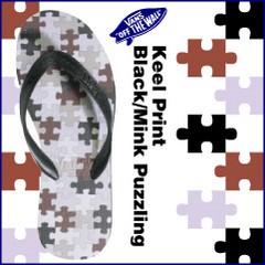 バンズ サーフ キールプリント ブラック/ミンクパズリング サンダル ラスト:23.5cm (VANS Surf Keel Print Black/Mink Puzzling)