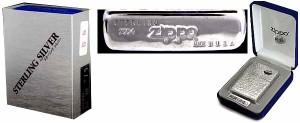 【ZIPPO】 手彫り・純銀レギュラージッポー