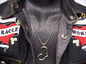 【送料無料★1,000円】【ネックレス】ハート型リングネックレス ny011c