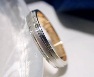【結婚指輪・単品】プラチナ900 K18 ピンクゴールド 2カラー マリッジリング