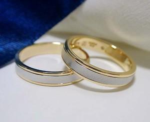 【結婚指輪 ペア価格】Pt900 K18 イエローゴールド 造幣局刻印 ペアリング 2カラー