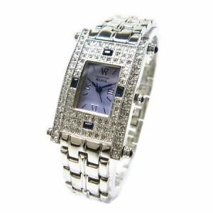 ヴァレンチノロレンタ天然サファイア使用スクエアー腕時計VR112SM鑑別書付き 送料無料