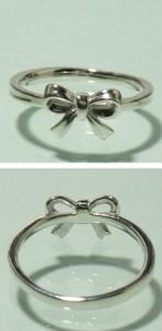 シンプルリボン シルバーリング 7〜13号 /シルバーアクセ/シルバーアクセサリー/指輪/sv925
