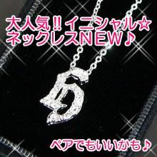 【n435】pt加工イニシャルネックレス★h