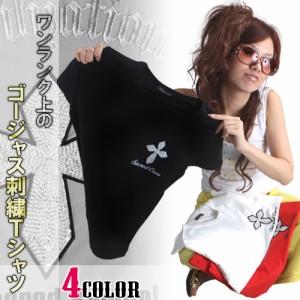 men's egg掲載ビーズ&スパン刺繍Tシャツclj-11125
